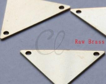 20pcs Raw Brass Triangle Link - 16x25mm (2005C-F-503)