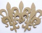 Vintage Fleur De Lis - Chipboard Die Cuts - Bare Flourish Accent Embellishments