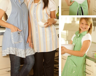 Kitchen Shirt Tales Apron ePattern