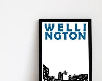 Wellington Print // New Zealand Art Print