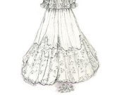 Baby Christening Gown Sketch
