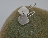 Simple Square Sterling Silver Dangle Earrings