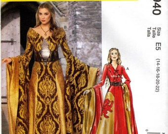 MCCALL'S PATTERN 6940 Game of Thrones Costume-Size 6-14