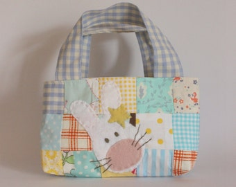 Easter bag patchwork acqua yellow