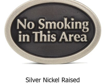 "No Smoking in This Area Small Oval Sign 6""x4.2"" by Atlas Signs and Plaques"