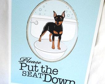 Put the Seat Down Min Pin - 8x10 Eco-friendly Print