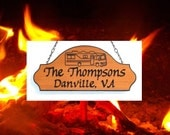 Family Name Motorhome Sign - Custom Carved Cedar   - Travel Trailer or your choice of RV Graphic