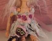 MOUSEFEATHER DOLL Alexa, On Sale hand sculpted puppet doll, jointed with tiny doll, OOak