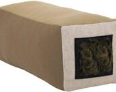 Veliarca Dark Box Bolster Decorative Throw Pillow 6 x 6 x 18 inches