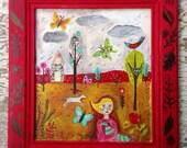 Original Painting Farmhouse Decor Folk Art