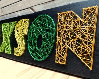 6 Letter String Art Wooden Name Tablet - Made to Order