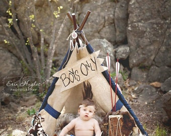LUKE - teepee, tent, play tent, photo prop