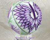 PATTERN - Butterflies Temari Original Pattern by Barbara B. Suess