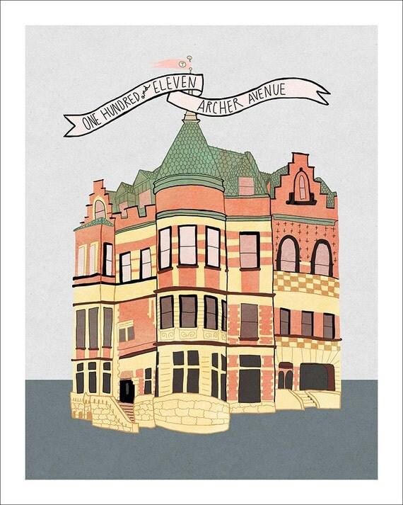 Archer Avenue - Illustration Print