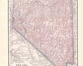 1913 State Map Nevada - Vintage Antique Map Great for Framing 100 Years Old