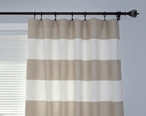 Popular Items For Striped Curtains On Etsy