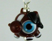 Adorable Pony Lampwork Glass Necklace and Cell Charm