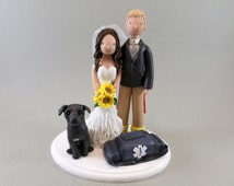 Paramedic & Firefighter Personalized Wedding Cake Topper
