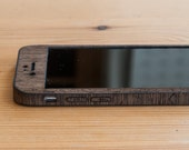 Wenge iPhone 7 Wrap - Real Wood iPhone 7 Case - Classic Style - Available in Bamboo, Walnut, Mahogany, Teak, Maple & more!