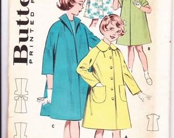1950s Girls Coats Sewing Pattern - UNCUT - Size 8