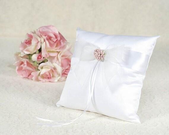 Porcelain Rose Bouquet Wedding Ring Bearer Pillow 75725R