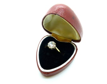 Vintage heart shape engagement ring box 1950 39 s 1960 39 s for Heart shaped engagement ring box
