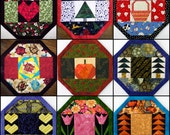 9 Options - Small Placemat - NO Binding - Centerpiece, Larger than Mug Mat - PDF Pattern