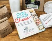 Book and Deluxe Kit Bundle- Make 20+ Cheeses with One Hour Cheese- Step by Step Photos- All the Supplies