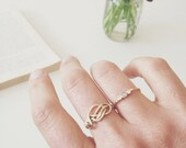 Sailor's Love Knot ring. Handknotted. Handformed. Gold