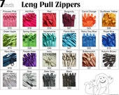 7 Inch 4.5 Ykk Purse Zippers with a Long Handbag Pulls Mix and Match Your Choice of 100 Zippers
