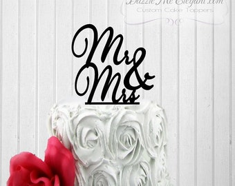 Wedding Cake Topper - Mr and Mrs Cake Topper - Mr and Mr - Mrs and Mrs - Bride and Groom