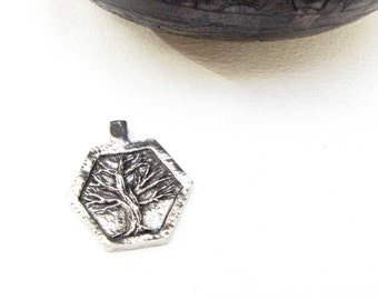 Tree Wisdom  Charm Pendant Green Girl Studio pewter charm necklace bracelet jewelry charm