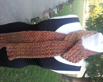 El Paso Autumn Double Knit Scarf - OOAK Handmade from an EtsyMom