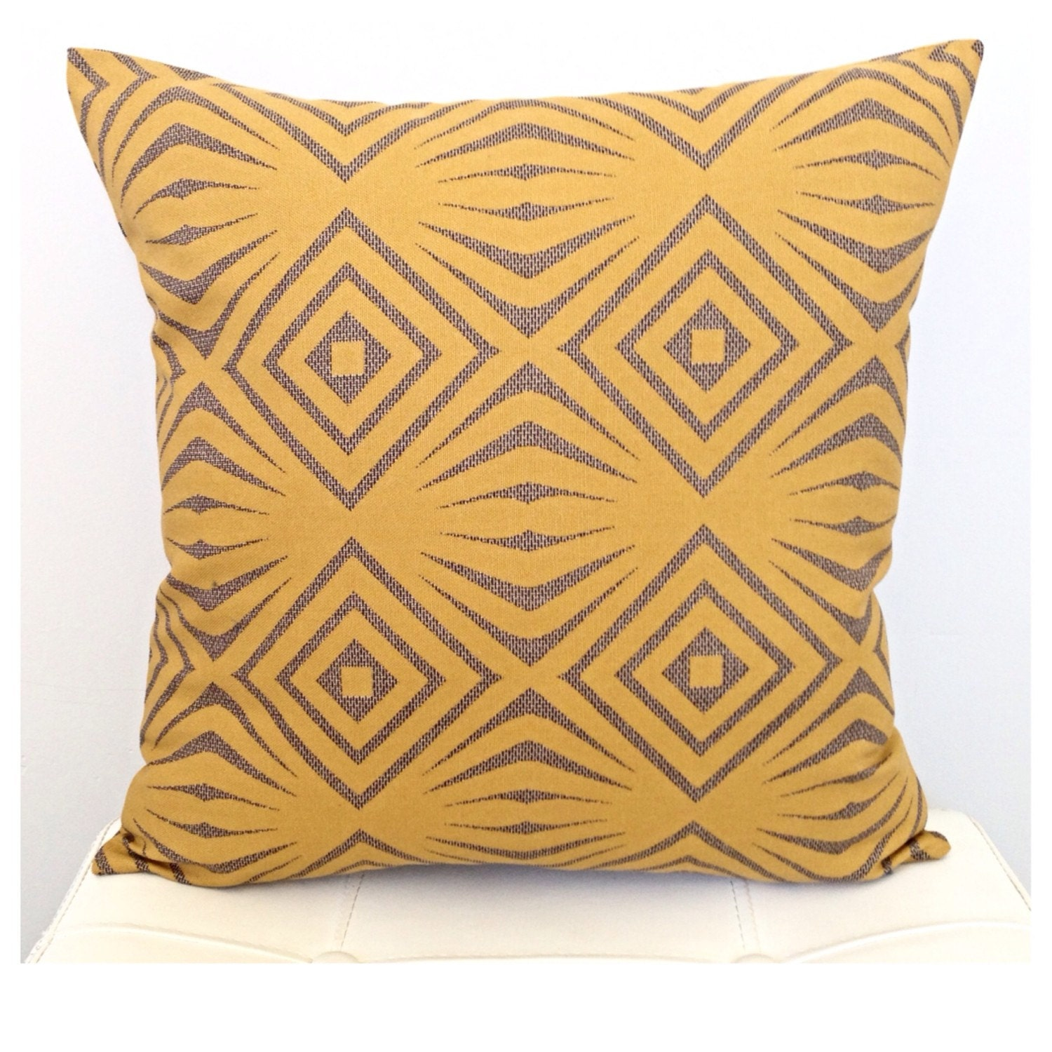 mustard yellow decorative pillow cover yellow and by twigandiris. Black Bedroom Furniture Sets. Home Design Ideas
