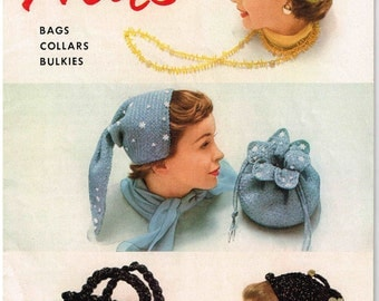 Crochet and Knitted Hats Pattern Book No 117  Sweaters and Purses The American Thread Company Star