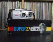 1960's Kodak Brownie Super 27 Camera with Original Box & Bulb
