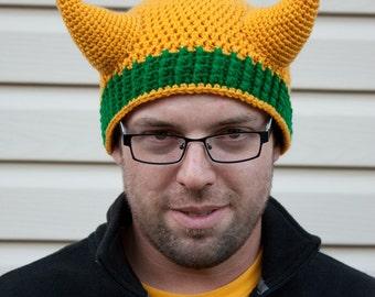 Loki Laufeyson inspired crochet beanie hat