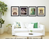 Save 20%, Martha's Vineyard Photography Print Set, Photo Collection, Doors and Windows Architecture Photography, Architectural, Cottage Chic