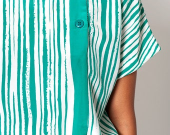 The Vintage Green Striped Tunic