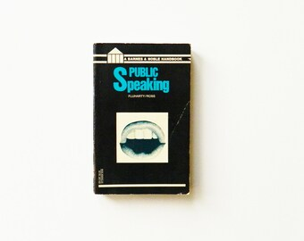 1960s Vintage Speech Textbook / Public Speaking How To / Vintage Speech Book / Collectible Paperback Book