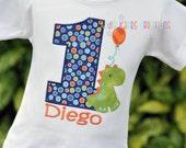 Personalized Kids Birthday Dinosaur Shirt