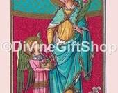 """Icon Saint Dorothy. 5"""" X 7"""" Print. Gorgeous image, Patron st. of Brides."""