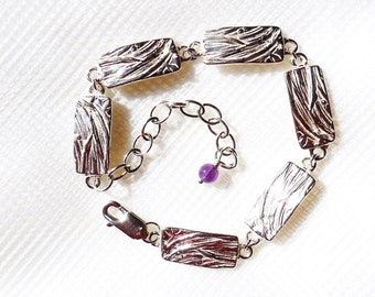 Sterling chrysanthemum bracelet, botanical jewelry, blossom replica, flower accessory