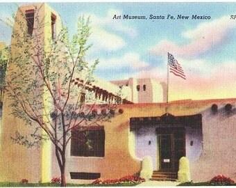 Vintage New Mexico Postcard - Museum of Art, Santa Fe (Unused)