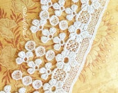 WHITE Venice Lace Fringe Tassels Dangles for Handbags, Jewelry Design, Garters, Altered Art