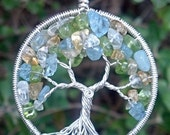 Custom Tree of Life Pendant - Eco-Friendly Sterling Silver and Natural Birthstones - Original Design by Ethora