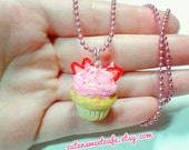 Food Jewelry Cupcake Necklace - Miniature Food Jewelry, Polymer Clay Jewelry, Handmade Jewelry, Cupcake Necklace, Cupcake Jewelry, Mini Food