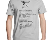 NEW Dr Brule HORSE funny Quote fan art Mens t Tee Shirt eric birthday present doctor rules and tim steve show horse in a can jockey doctor