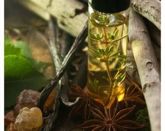 bellatrix - botanical perfume oil - 1/2 oz of dark patchouli and vetivert - old world perfume at its finest