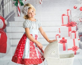Girls Dress, Christmas Icicle, sizes 6 months to 8 years, by SunLoveShirts